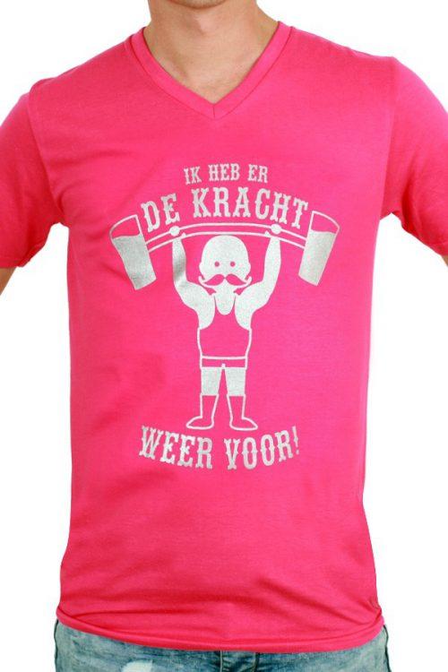 T-Shirt ''Ik heb er de Kracht weer voor'' Rose Heren