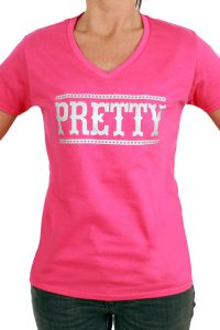 T-Shirt ''PRETTY'' Rose Dames