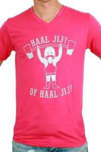 T-Shirt ''Haal jij? Of haal jij?'' Rose Heren