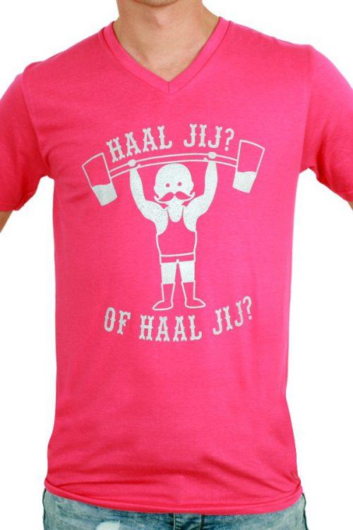 T-Shirt ''Haal jij? Of haal jij?'' Rose Heren