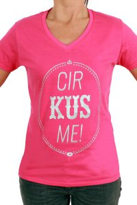 T-Shirt ''cir KUS me'' Rose Dames