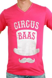 T-Shirt ''Circus Baas'' Rose Heren