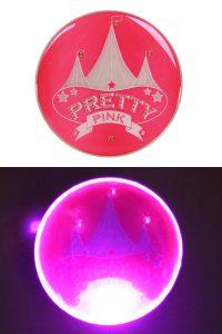 """Button met Licht """"Pretty Pink"""" Circus"""