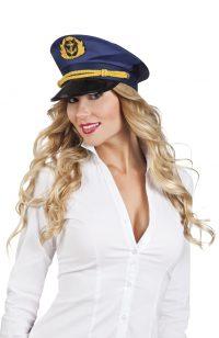 Kapiteinspet Donna Blauw Verstelbaar