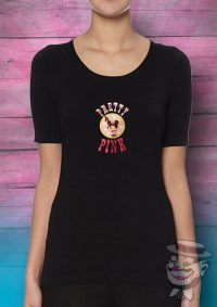 "T-Shirt Zwart ""PRETTY PINK"" Dames"
