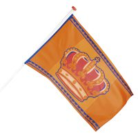Koningsdag Vlag Polyester 90x150cm