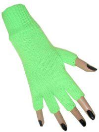 Handschoenen Vingerloos Fluor/Neon Groen