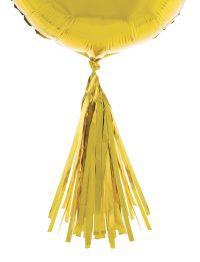 5st Tassels Goud voor aan (Folie)ballonnen