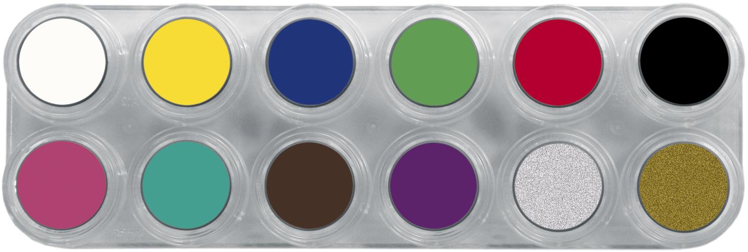Grimas Water Make-up 12kl Palet A