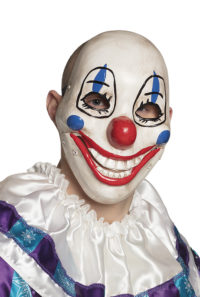 Plastic Masker Clown met Beweegbare Mond