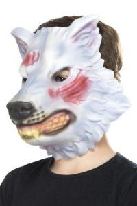Foam Masker Wolf Grijs Kind