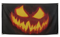 Vlag Creepy Pompoen Halloween 90x150cm