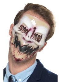 Plastic Masker Horror Gezicht met Bloed