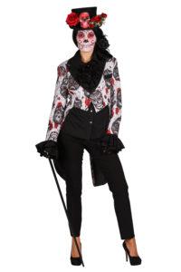 Slipjas Mexican Skull Zwart/Wit Dames
