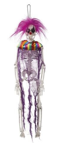 Decoratie Skelet Crazy Clown 40cm