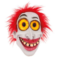 Rubber Masker Big Smile met Rood Haar