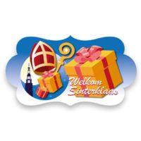 Decoratiebord Welkom Sinterklaas