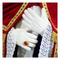 Handschoenen Katoen Lang Wit