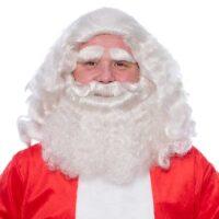 Baardstel Kanekalon Kerstman Deluxe