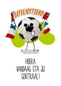 OMG Wenskaart Voetbal