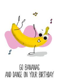 OMG Wenskaart Banaan