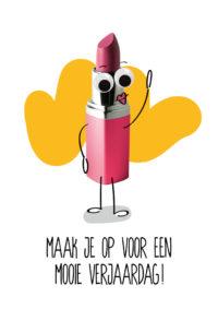 OMG Wenskaart Lippenstift