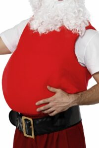 Kostuum Kerstman Buik/Dikmaakpak Volwassen One Size