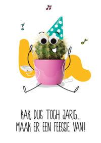 OMG Wenskaart Cactus