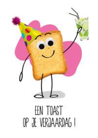 OMG Wenskaart Toast