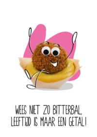 OMG Wenskaart Bitterbal