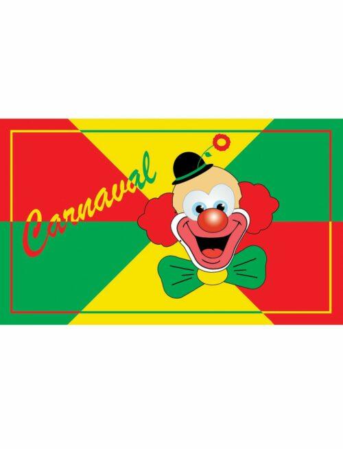 Vlag Carnaval met Clown 90x150cm