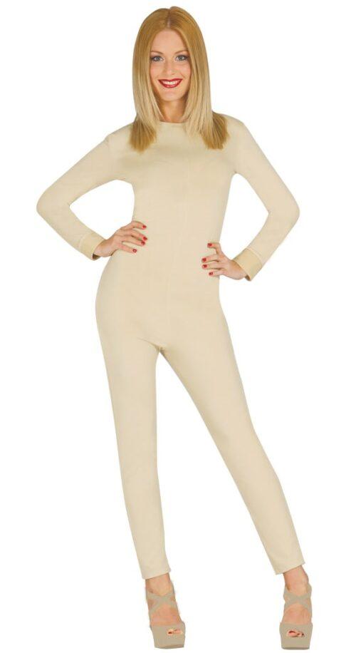 Bodysuit Huidskleur Dames Mt.S/M
