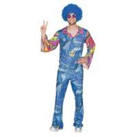 Kostuum Jumpsuit Hippie Jeans Heren One Size