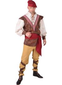 Kostuum Middeleeuwse Boer Heren