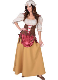 Jurk Middeleeuwse Boerin Dames