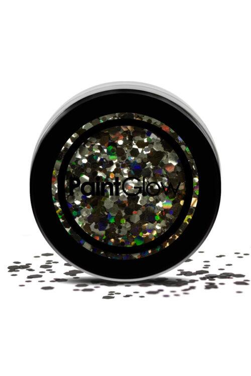 Glitter Fijn en Grof Gemengd Zwart 3gram