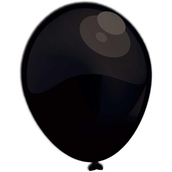 Reuze Ballon 90cm Pearl Zwart