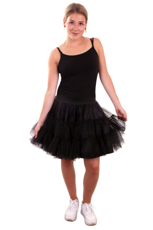 Pettycoat 3-Laags Zwart Volwassen One Size