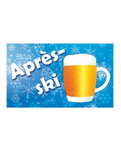 Vlag Apres Ski 90x150cm