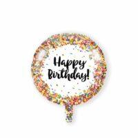 Folieballon Happy Birthday Confetti 46cm