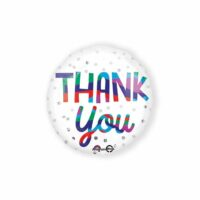 Folieballon Thank You Dots 43cm