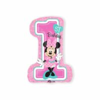 Folieballon XL 1st Birthday Minnie Girl 48x71cm