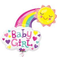 Folieballon XL Girl Sun 76x76cm