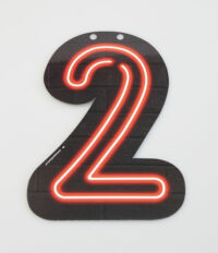 Letterslinger Cijfer-2 Neon