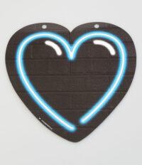 Letterslinger Symbool-Hartje Neon Blauw
