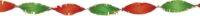 Crepe Guirlande Rood-Geel-Groen