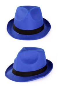 Gleufhoed Blauw met Band