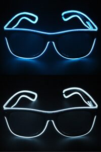 Bril met LED Licht Blauw of Wit