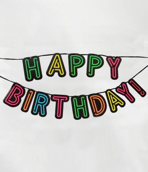 "5m Letterslinger Neon ""Happy Birthday!"""