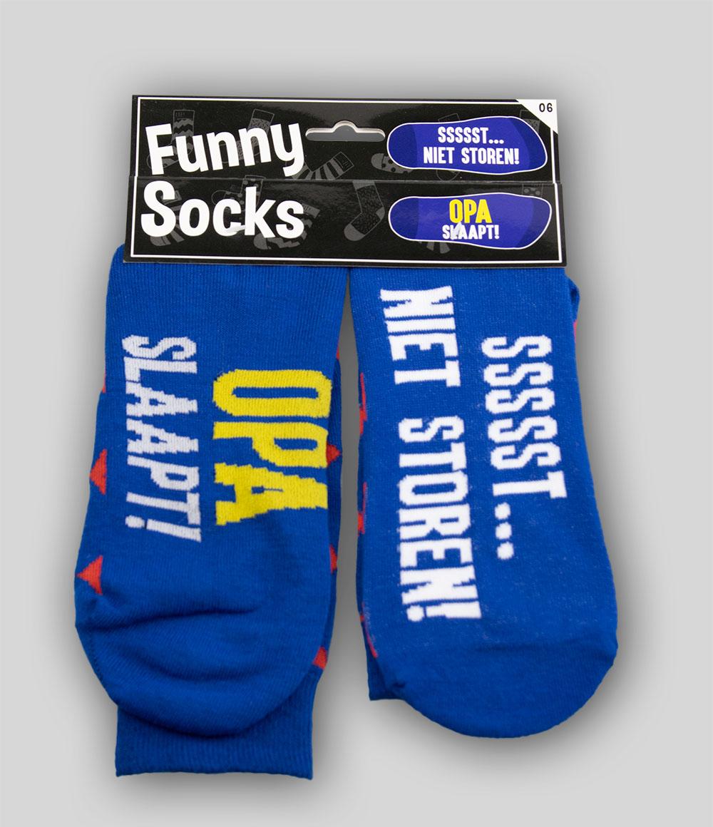 Funny Socks Opa slaapt!